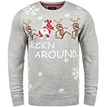 99ea68a28c86 Blend Deer Herren Weihnachtspullover Winter Pullover Strickpullover  Weihnachtspulli mit Rundhals-Ausschnitt
