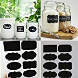 #8: HOUSE OF QUIRK Vinyl Chalkboard Labels (3.5x2.25 Inches, Black) - Set of 48
