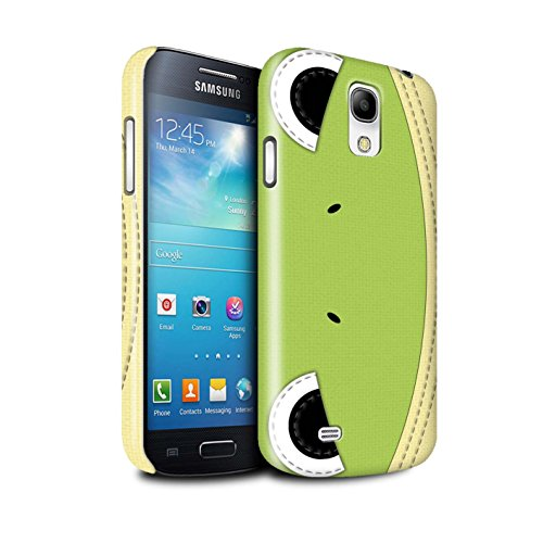 STUFF4 Glanz Snap-On Hülle / Case für Samsung Galaxy S4 Mini / Frosch Muster / Genähte Tier Effekt - Galaxy Max 4 S4 Fall