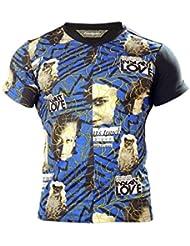 Desigual t-shirt-homme-bleu/multicolore arrière-uni (dM - 4)