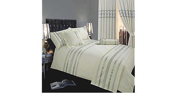 ECRU IVOIRE qualité hôtel en coton égyptien 200 fils de couette lit double