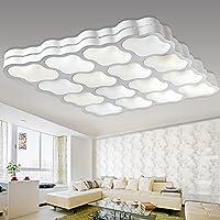 KHSKX Lampada da soffitto,Casa illuminazione a soffitto moderno minimalista soggiorno-camera da letto caldo e romantica atmosfera di ferro arte illuminazione creativa 740*740*90mm - Tenda Acrilica