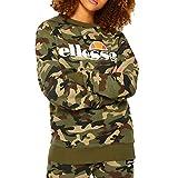 ellesse Sweater Damen Agata Crew Sweat Camouflage Camo Print, Größe:M