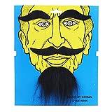 Chinesischer Bart Schwarz selbstklebend klebe Bart Schnurrbärte Oberlippenbart Oberlippenbärte Karneval Fasching Kostüm Kostüme Verkleidung moustache
