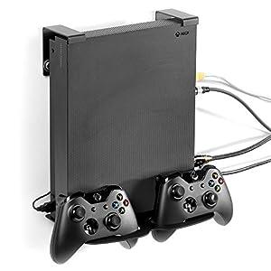 GameVspaceXduo vertikale Unterstützung für Xbox One X und One S mit Kühlventilatoren und Platz für zwei 2 Controller.
