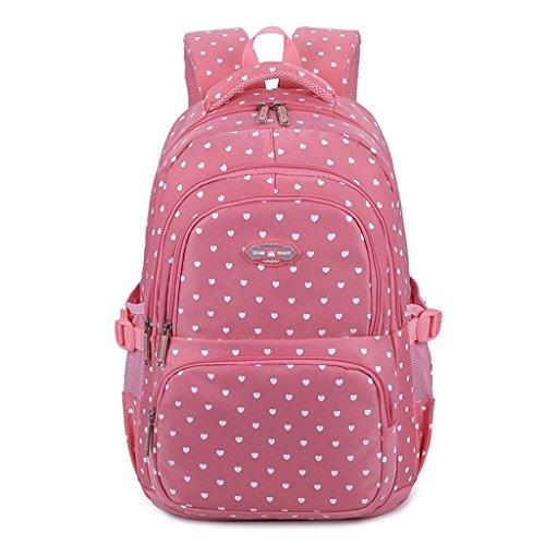 Mädchen Rucksack Rucksack, Schultasche für Kinder Kleinkinder Studenten Bookbag Lässiger Tagesrucksack Laptop Rucksack Outdoor Reisetasche - Idee für Klasse 3-6 -Schatz Rosa