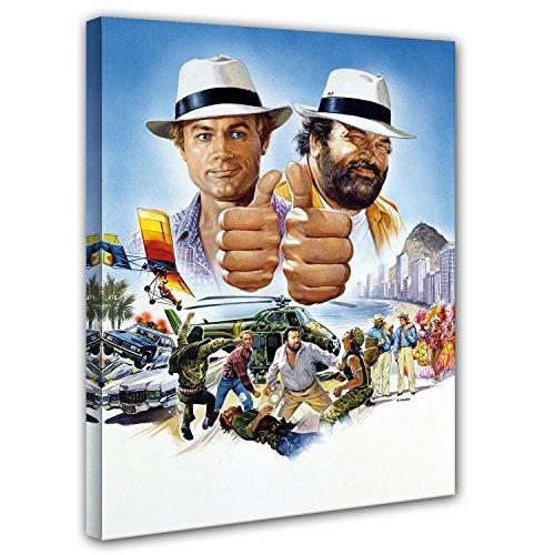 Preisvergleich Produktbild Terence Hill und Bud Spencer Leinwand- Vier Fäuste gegen Rio - Kunstdruck Renato Casaro Edition (60 x 80 cm)
