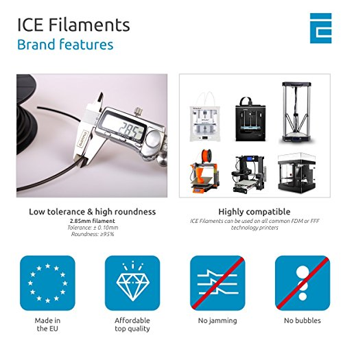 ICE FILAMENTS ICEFIL3PLA008 PLA Filament, 2,85 mm, 0,75 kg, Bold Blue - 6