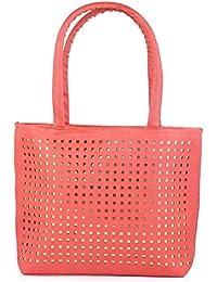 Techno Wear Premium PU Leather And Casual Shoulder Bag Women & Girl's Handbag Colour Pink