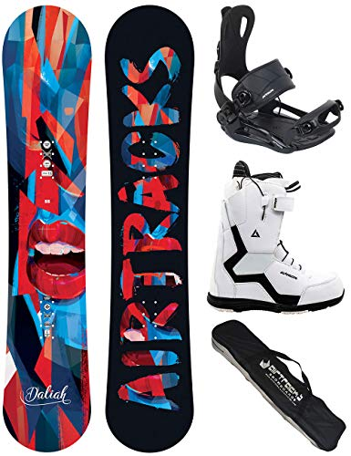 Airtracks Damen Snowboard Set - Board Daliah 140 - Softbindung Master - Softboots Savage Black 38 - SB Bag