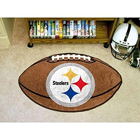 """Fanmats Home Indoor sports Team Logo Mat Pittsburgh Steelers Football Rug 22""""x35"""" by Fanmats"""