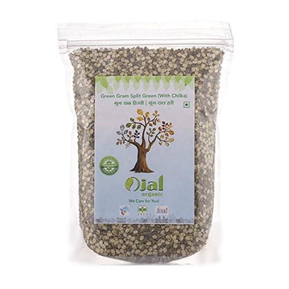 Ojal Organic Moong Dal Green Gram Split with Chilka