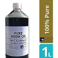 OURONS 1 litro di olio di neem puro pressato a freddo
