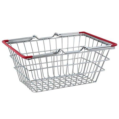Mini panier à courses Rouge Poignées 18 x 13 cm - Design Panier à puce pour un service alimentaire unique