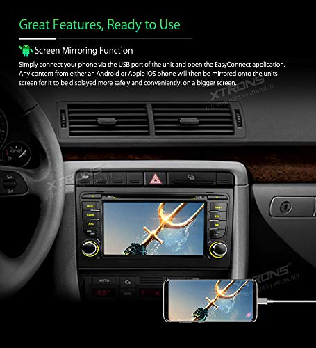 XTRONS-7-Android-Autoradio-mit-Touchscreen-Android-81-Quad-Core-DVD-Player-Car-Auto-Play-Full-RCA-4G-Bluetooth50-2GB-RAM-16GB-ROM-DAB-OBD2-TPMS-FR-Audi-A4S4RS4SEAT-Exeo