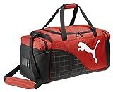 Puma Sporttasche mit Schulterriemen, Schwarz/Rot