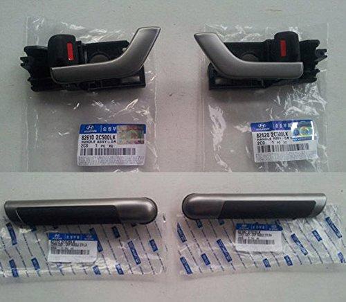 Preisvergleich Produktbild Hyundai Motors OEM 826102 C500 826202 C500 823722 C020 823822 C020 Innen Tür Griff Catch + Grip 4 rauscheiben Set für 01 02 03 04 05 06 07 08 09 Hyundai Tiburon Coupe (Tuscani)