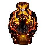 YUVUMVS Feuer Tiger Männer Hoodies Sweatshirts Mens Hoody Anime Trainingsanzug 3D Druck Pullover Streetwear Mantel Hip Hop, 6XL