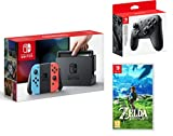 Nintendo Switch consola 32gb azul/rojo Neón + The Legend of Zelda: Breath of the Wild + Nintendo Switch Pro Controller