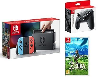 Nintendo Switch consola 32gb azul/rojo Neón + T...