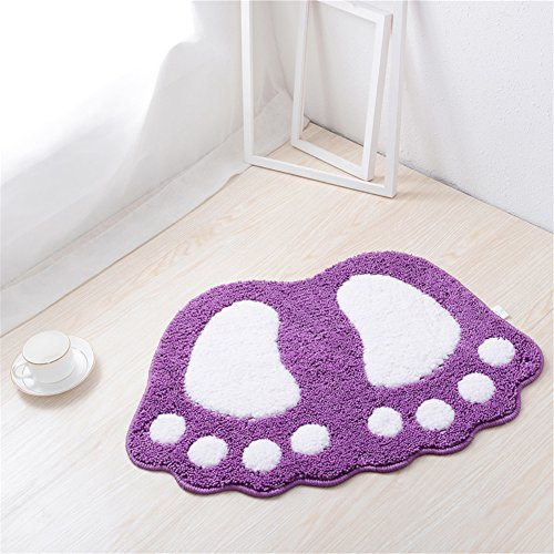 8 Gewebten Teppich (Yuanlar Große Füße Bad WC-Vorleger Teppiche Teppich absorbierenden Matten Fußmatte Fußmatte Badezimmer Teppiche Schlafzimmer Wohnzimmer Küche Fuß Pad Teppich 16''x24'' Violett)