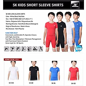 Kinder Kompression Shirt Unterwäsche Jungen Youth unter Base Layer Short Sleeve Top SK