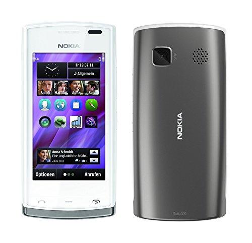 Nokia 500 White Dark Silver Smartphone RM 750 Weiss Ohne Simlock