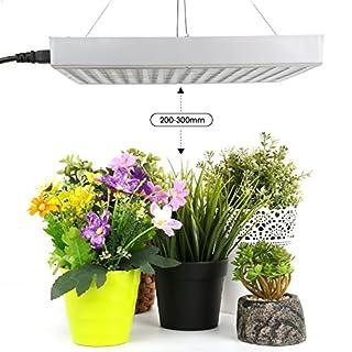 Amzdeal Pflanzenlampe, LED Pflanzen Lampe, Wachstumslampe Blumenlampe, Pflanzenlicht Pflanzenbeleuchtung Rot Blau Weiß Orange, 35W 225 LEDs