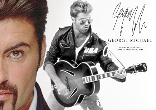 George Michael tribute poster - # 9 - 2016 pop star icon - legend A3 Poster - print - picture
