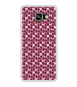 ifasho Animated Pattern small purple rose flower Back Case Cover for Samsung Galaxy A5 (2016)