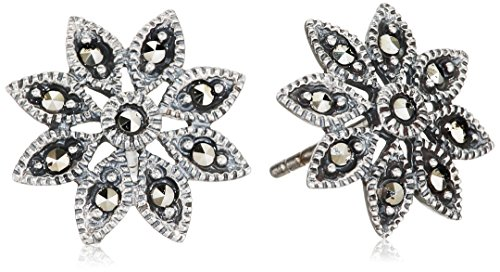 elements-silver-e2053-ladies-marcasite-daisy-sterling-silver-stud-earrings