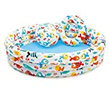 LQHPP Kinderbecken Game Center Wasserspielzeug Aufblasbare Badewanne 132 * 28 cm Für Kinder Im Alter Von 2-9 (52 * 10 Zoll)