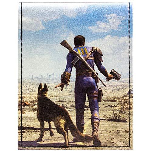 Fallout 4 Dogmeat & Soul Survivor Schwarz Portemonnaie Geldbörse (Fallout New Vegas Cosplay Kostüm)