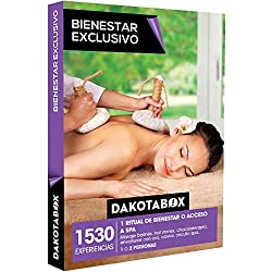 DAKOTABOX - Caja Regalo - BIENESTAR EXCLUSIVO - 1530 experiencias como masajes hot stone, envolturas con oro, circuitos spa y mucho más