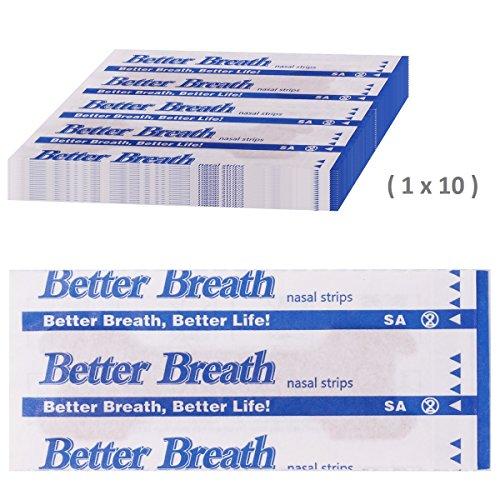 Incutex 10 Stück Nasenpflaster gegen Schnarchen Nasenstrips Schnarchstoppper, Größe M