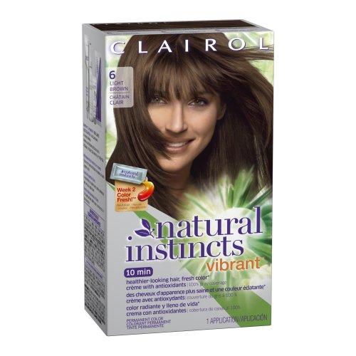Clairol Colorant crème Natural Instincts Vibrant - Avec antioxydants - Couleur 6 Fresh Maple (Châtain clair)