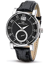 Philip Men's Wales Analogue Watch R8251193125 with Quartz Movement, Black Dial and Stainless Steel Case