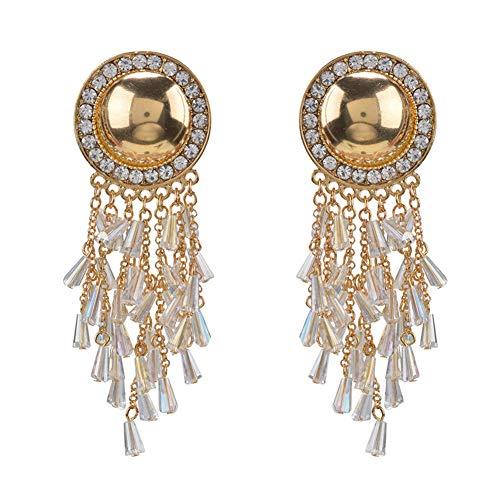 Grandi orecchini esagerati di tendenza occidentale orecchini in lega di diamante di alta qualità orecchini originali orecchini nappa retrò,grigio,hlh hlh