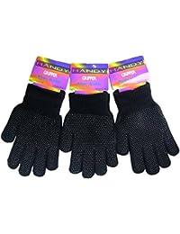 Unisexe 3paires de gants magiques avec paume Grip thermique Noir Taille Unique