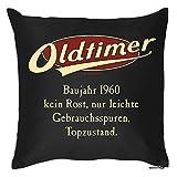 Goodman Design  Kissen mit Geburtstagsmotiv - Oldtimer - Baujahr 1960 - Kein Rost, nur leichte Gebrauchsspuren - Couch Kissen - Geschenk