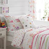 """Girls Pink Elephants Lined Bedroom Curtains 66"""" x 72"""""""