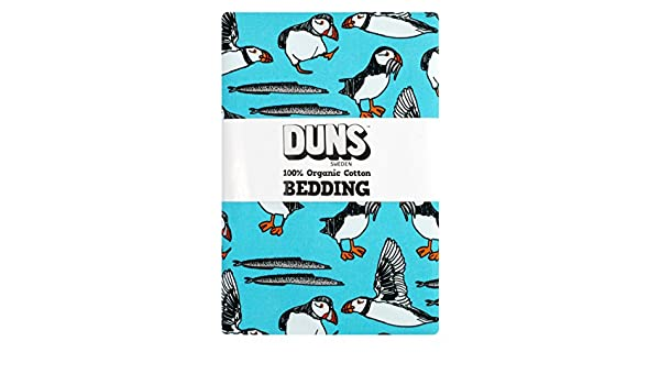 Duns Sweden Puffin Single Bedding Turquoise Size 200 X 150 Cm