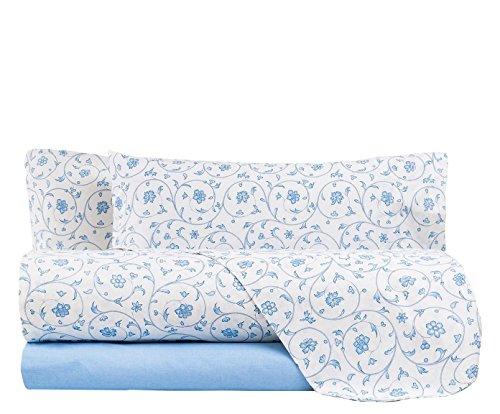 Bettwäsche Zucchi Mery, komplett, für Doppelbett hellblau