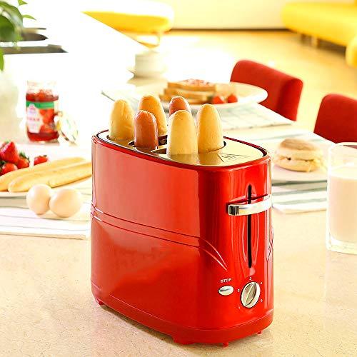 ZUEN Hot Dog Toaster einstellbare Kochzeit einfache Reinigung Frühstück Brot abnehmbare Pop-Up Hot Dog Toaster