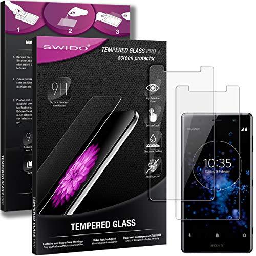 SWIDO Panzerglas Bildschirmschutzfolie kompatibel mit Sony Xperia XZ2 Premium (2 Stück) - 9H Panzerglas Folie, HD, Panzerfolie, Tempered Glass Schutzglas, Schutzfolie, Glas, Bildschirmschutz, Ultra-Clear