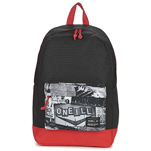 O 'Neill BM Costa Graphic Mochila, color - black - grey - red, tamaño talla única