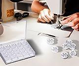 Aufbewahrungsbox für Garn Nähen für 25Spulen aus Acryl transparent–2aintimo®
