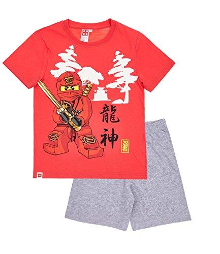 Lego Ninjago Jungen Shorty-Pyjama - rot - 104
