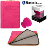 Pillow Zippered Sheen Quilted Sleeve [PNK] For Hipstreet 10 / Quad Core / Equinox 10.1/ HP Slate 8 Plus