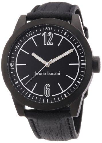 Bruno Banani - BR21111 - Montre Homme - Quartz Analogique - Bracelet Cuir Noir